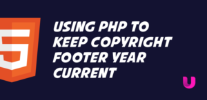 Using php to keep copyright footer year current
